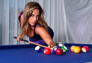 Sexy Girl in the billiard